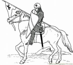 Castle Knight Coloring Page 10 Coloring Page - Free ...