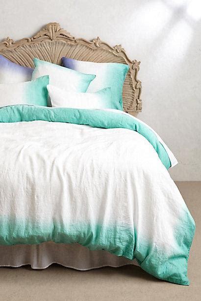 sol linen turquoise  white duvet