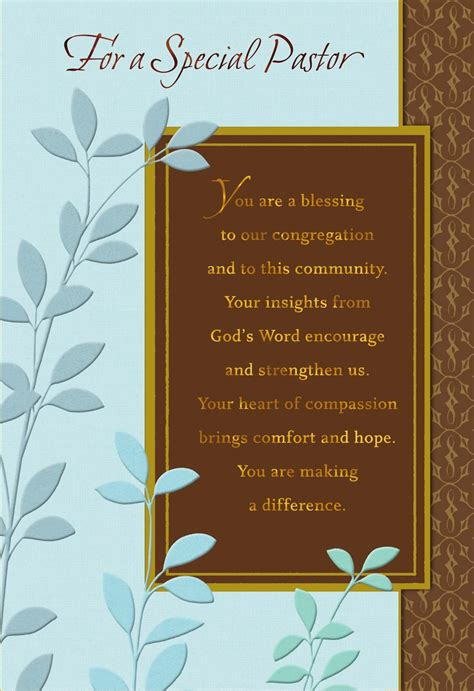 youre  blessing pastor anniversary card greeting