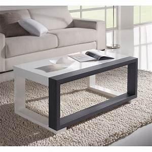 Table Basse Blanc Gris : table basse relevable plateau blanc et cadre gris deco et saveurs ~ Nature-et-papiers.com Idées de Décoration