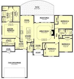 houses plan ranch style house plan 4 beds 2 baths 1875 sq ft plan 430 87