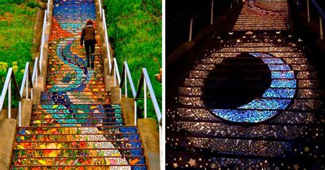 16th avenue tiled steps in san francisco these tiled steps in san francisco glow at from the