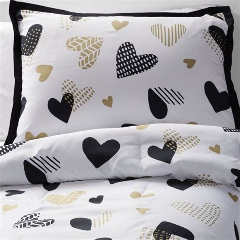 black white and gold comforter set home design ideas