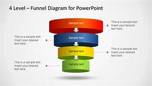 4 Level Editable Funnel Diagram For Powerpoint