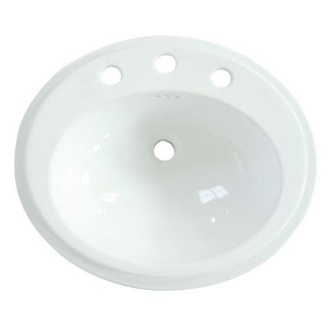Home Depot Overmount Bathroom Sink by Polaris Sinks Overmount Porcelain Bathroom Sink In White