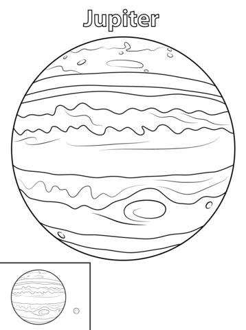 planeet jupiter kleurplaat gratis kleurplaten printen