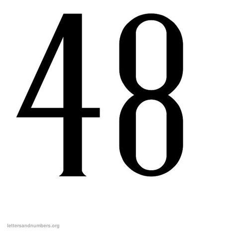 9 Best Images of Printable Number 48  Printable Number 1