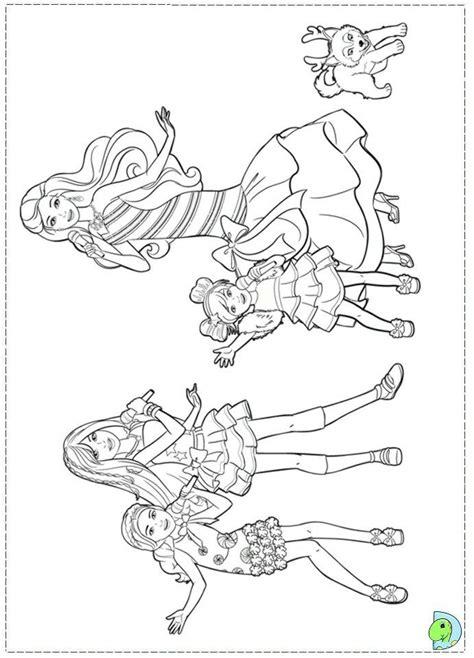 pin  renata  barbie coloring kolorowanki