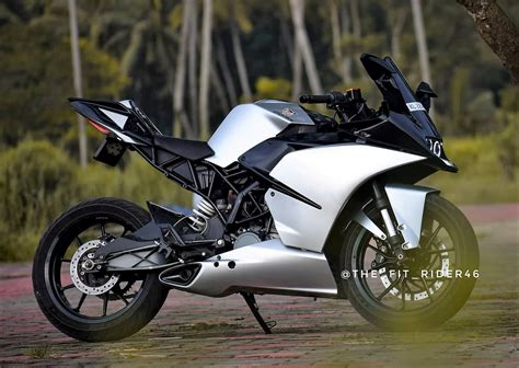 Modification Ktm Rc 250 by Meet Beautifully Modified Ktm Rc 200 Pearl Silver Edition