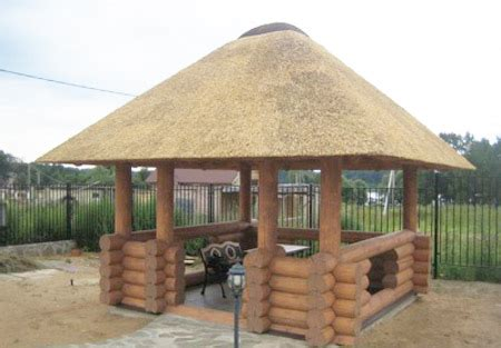 thatched roofing  gazebos  sheds gorgeous backyard