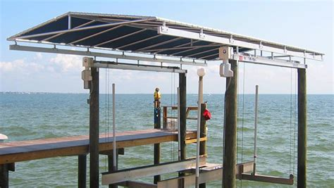 Boat Dock Canopy Covers by Boat Lift Canopies
