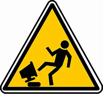 Hazard Safety Computer Bad Warning Boss Clip
