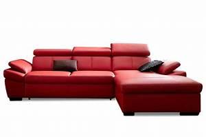 Sofa Mit Schlaffunktion Leder : exxpo by gala leder ecksofa salerno mit schlaffunktion rot sofas zum halben preis ~ Bigdaddyawards.com Haus und Dekorationen