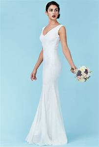 sequin and chiffon maxi wedding dress white sequin and With wedding dresses with sequins