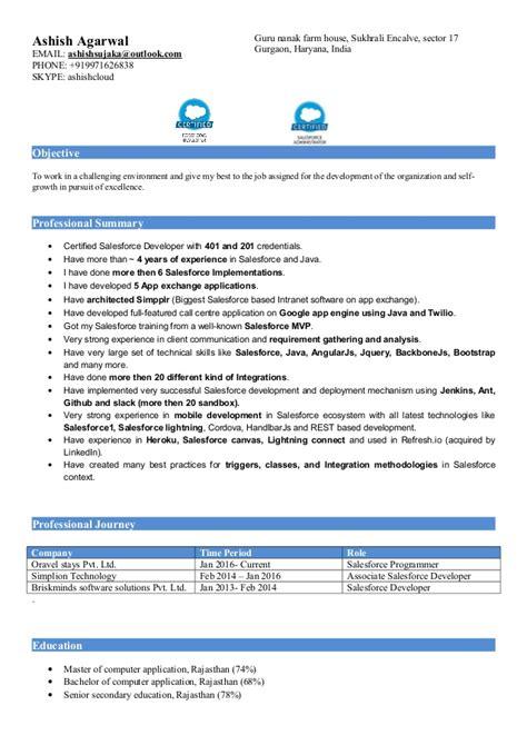Salesforce Resume by Salesforce Consultant Resume Pradeep Resume Salesforce