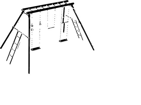swing clipart black and white picture of a swing set cliparts co