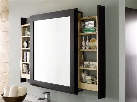 Mirror With Storage, For A Small Room Trick