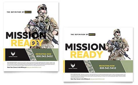 military brochure template design