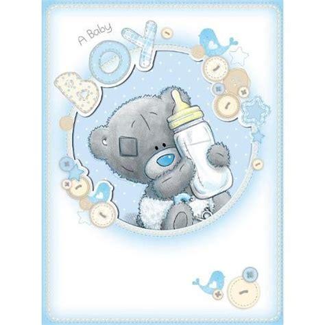 baby boy    bear large card ald