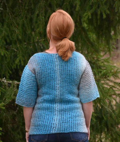 sweater tunisian crochet side ways sweaters