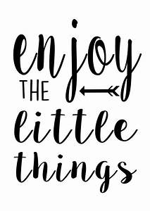 Enjoy the Little Things printable Black and by ...