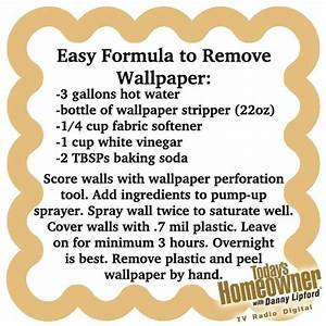 Easiest Way To Remove Wallpaper