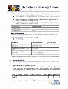 service level agreement template payroll service level With ola document template