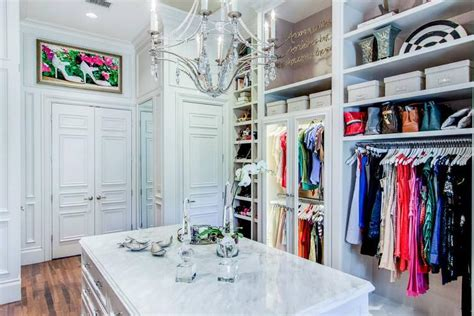 double doors  walk  closet transitional closet