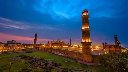 Lahore Mosque Badshahi Pakistan Sunset 1920 1080