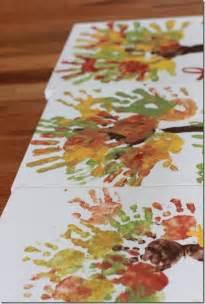 Handprint Fall Trees On Canvas