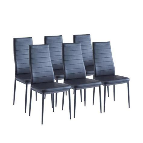lot de 6 chaises noires sam lot de 6 chaises de salle à manger noires achat