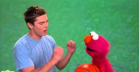 Zac Efron Teaches (video Inclueded) Elmo Patience On