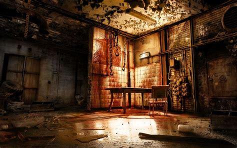 torture room horror macabre skulls  room wallpaper escape room scary stories
