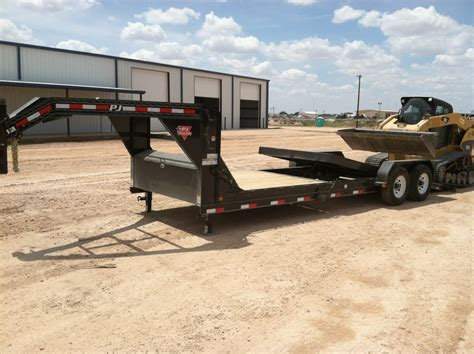 Lowboy 24 Ft Tilt Trailer By Pj Trailers. In Stock At All
