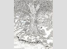 Fairy Tree by Jennifer McPherson Adult colouring therapy
