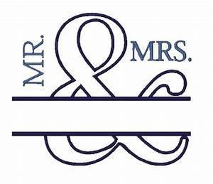 All Designs :: Split Designs :: Mr and Mrs Applique