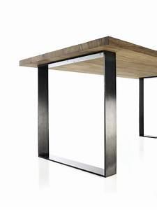 Table En Metal : table de salle manger en m tal et bois design industriel loft personnalisable roma ~ Teatrodelosmanantiales.com Idées de Décoration