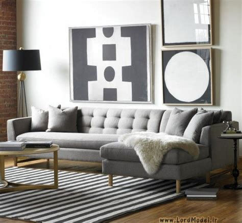 Black And Gray Sofa by Contemporary Living Room Design With Edward L Shaped