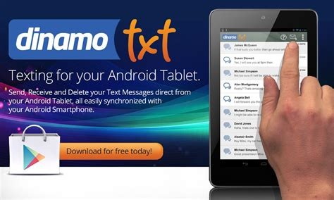 best texting app for android tablet tablet sms messaging dinamotxt android apps on play