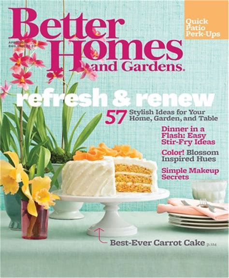 better homes and gardens magazine april 2013 eat your books