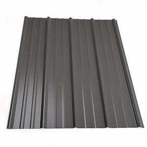 metal sales 5 ft classic rib steel roof panel in charcoal With 5 rib metal roofing
