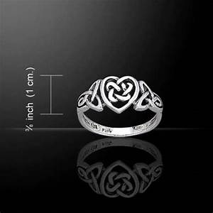 Celtic Woven Knot Heart Ring .925 Sterling Silver Ring ...