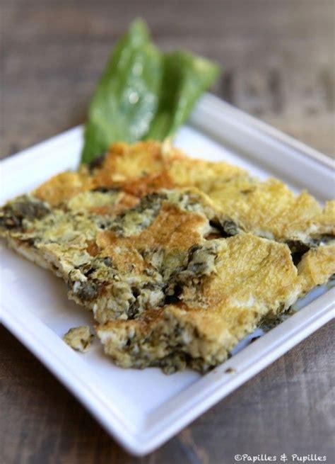 cuisiner l oseille omelette à l oseille recette omelette et omelettes