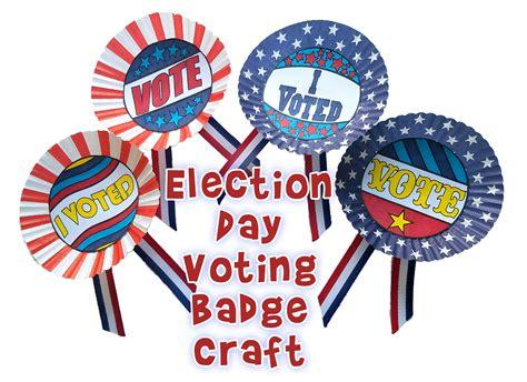 election day craft  kids  voting badges woo jr