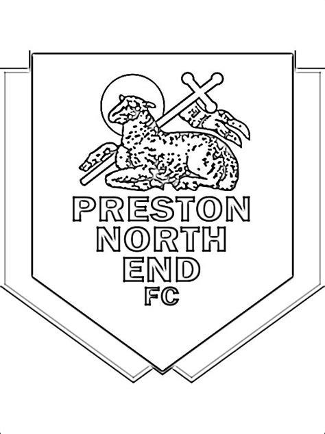logo preston north  football club disegni da colorare