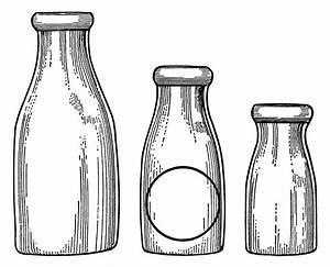 Milk Bottles Clip Art - Old Design Shop Blog