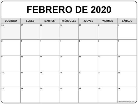 febrero de calendario gratis calendario febrero
