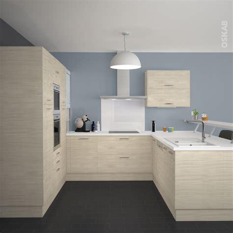 cuisine blanc cuisine bois clair plan de travail blanc wraste com