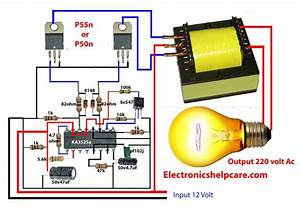 How To Make Inverter 12v Dc To 220v Ac  Making Circuit Diagram  Making Transformer  Electronics