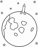 Moon Coloring Pages Rocket Space Crescent Landing Print Template Drawing Stars Moons Sun Drawings Rockets Festival Templates sketch template